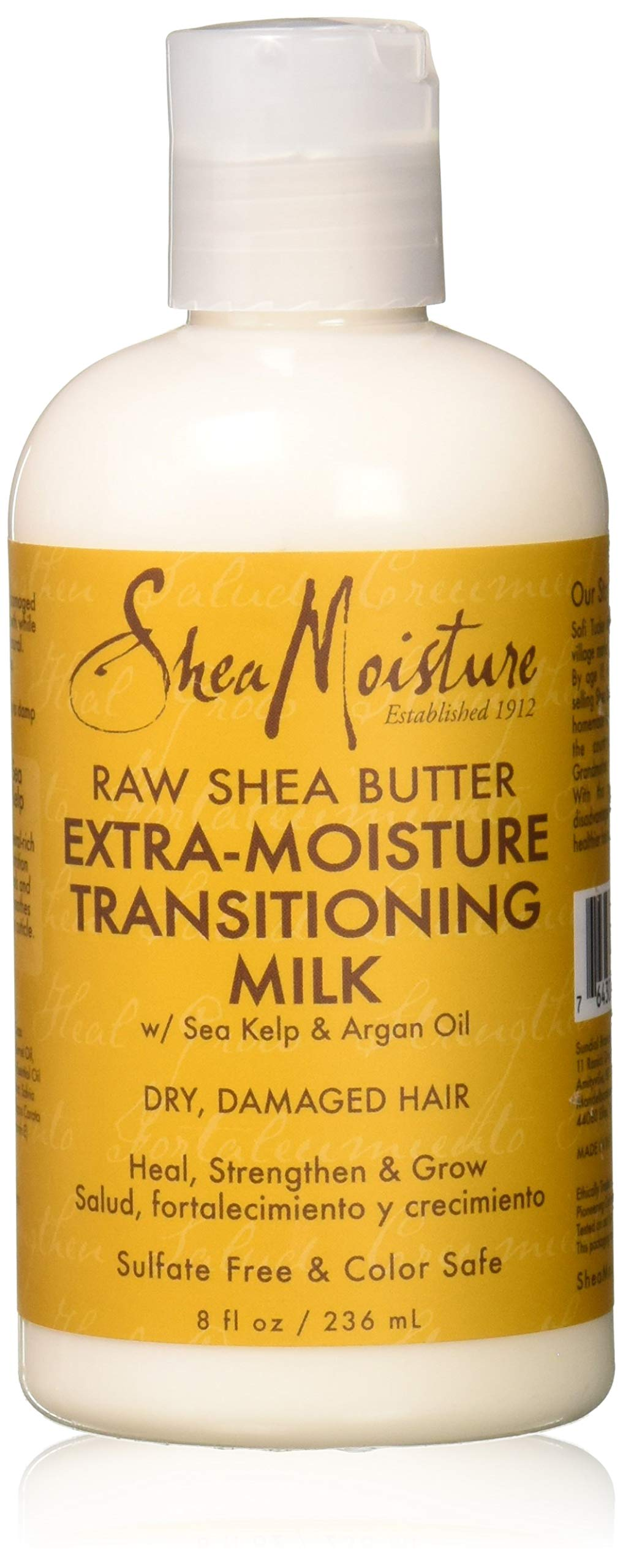 SheaMoisture Raw Shea Butter Extra-Moisture Transitioning Milk, 8 Ounce