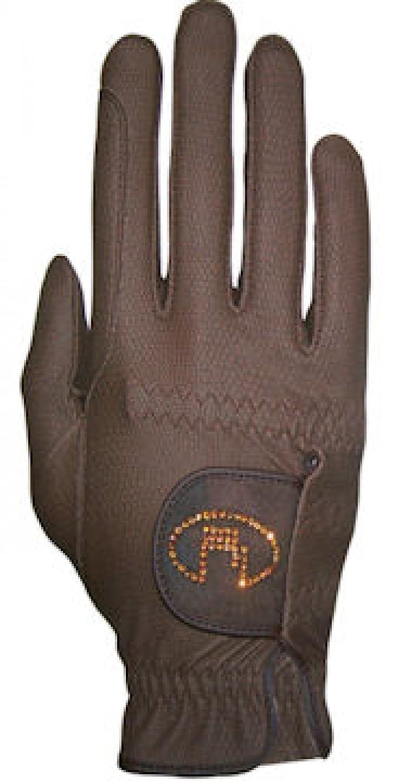 Roeckl – レディースクリスタルRiding Gloves Lisboa B001FRBGFK 7|モカ モカ 7