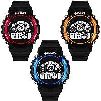 DAIZEL™ Digital Boy's & Kids LED Sport Combo Watch | Pack of 3
