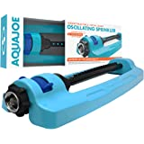 Aqua Joe SJI-OMS16 Indestructible Metal Base Oscillating Sprinkler with Adjustable Spray, 3600-Square Foot Coverage