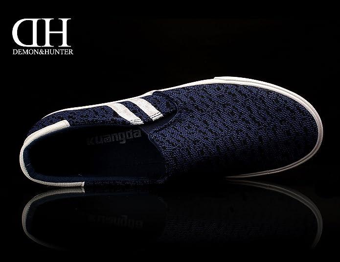 Amazon.com | Demon&Hunter KU-DA Series Mens Slip-On Casual Shoes C403297 No.III | Loafers & Slip-Ons