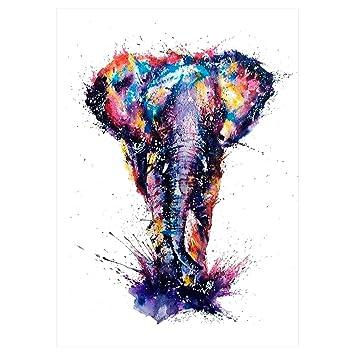 Elefante Tattoo Multicolor/Colores falso tatuaje Tattoo adhesivos ...