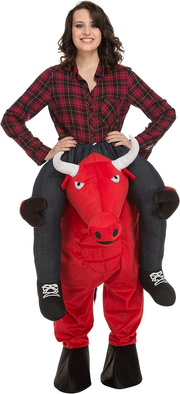 My Other Me Me-204318 Disfraz Ride-on toro, color rojo, M-L ...