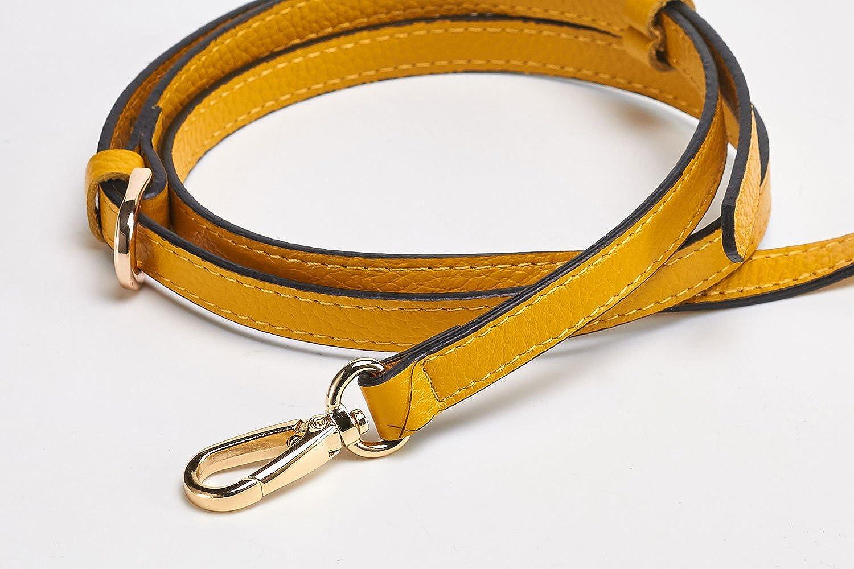 Handbag Bag Wallet LIVE UP Black Full Grain Leather Adjustable Replacement Cross Body Purse Shoulder Strap Hardware Buckles Gold Tone Adjustable Length 43-51,Brass Tone 1//2 Width