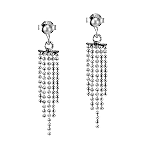 Amazon.com: Cascada en cascada Plata de ley 925. Dangle Post ...