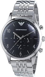 Chronograph Xl Armbanduhr Edelstahl Quarz Armani Emporio Herren yfg76Ybv