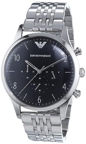 Emporio Armani Reloj Cronógrafo para Hombre de Cuarzo con Correa en Acero Inoxidable AR1863: Amazon.es: Relojes