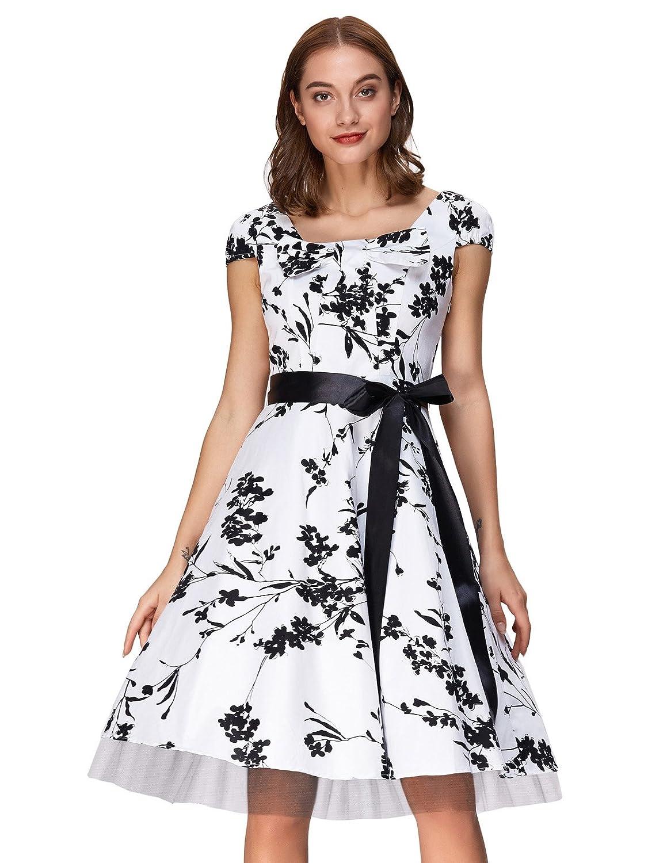 Grace Karin 50s Vintage Rockabilly Kleid Partykleider Petticoat Kleid CL4598