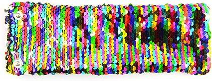 Reversible Sequins Mermaid Bracelet Sequined Wrap Around Wrist Bands for Party BU$INESS OF DIVORCE Mermaid Bracelet