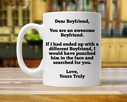 Gift For Boyfriend Personalized Custom Mug Funny Gifts