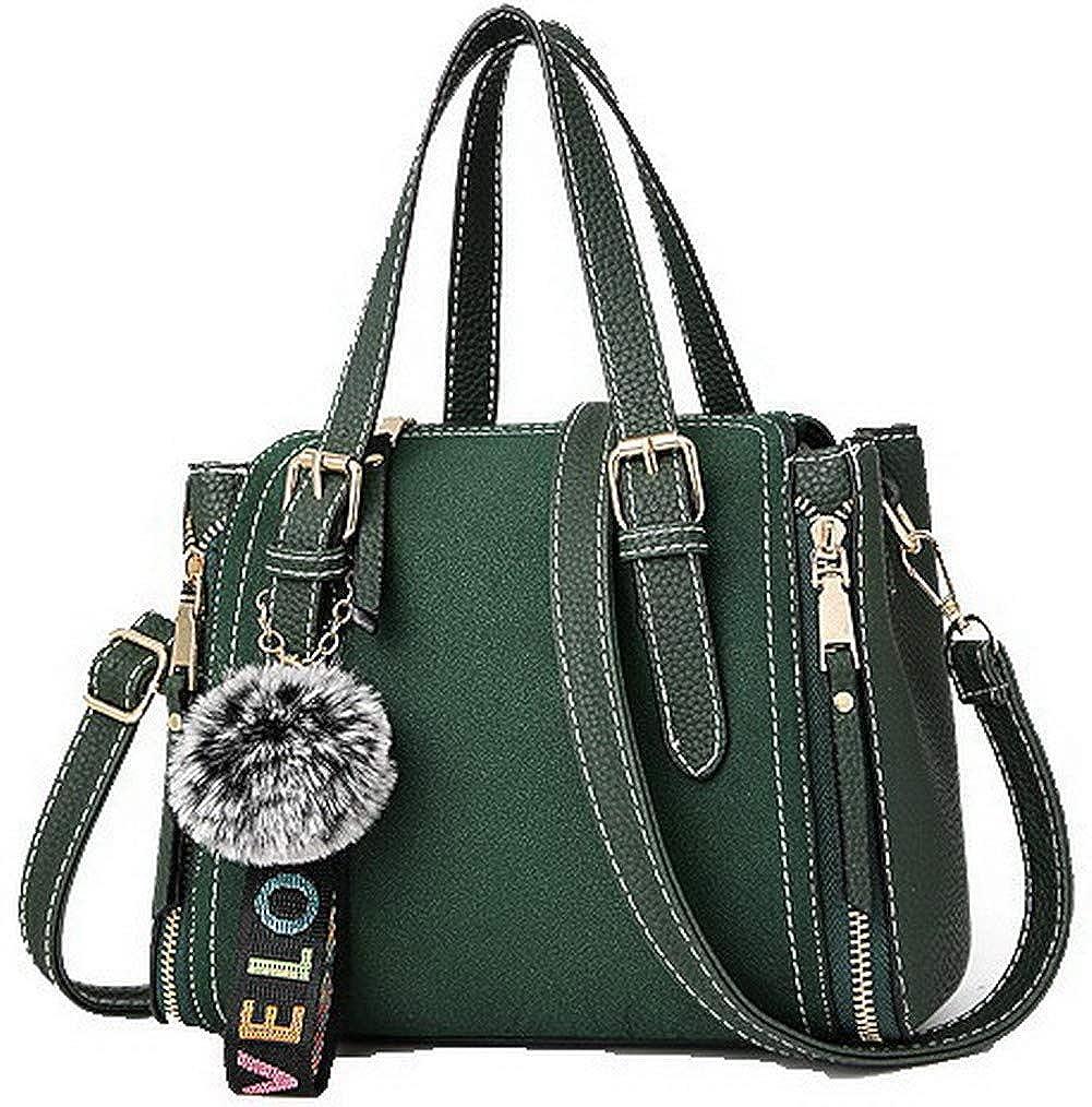 Green WeiPoot Women's Fashion Charms Dacron Crossbody Bags Tote Bags, EGHBG181802