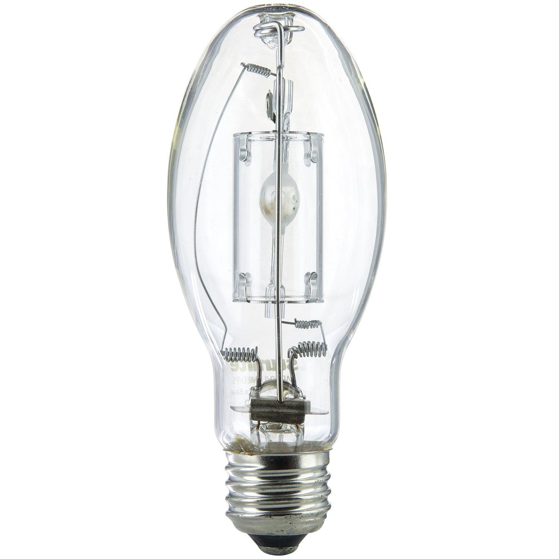 Sunlite 03638-SU MP50/U/MED 50 Watt Metal Halide Protected for Exposed Fixtures ED17 Light Bulb, Medium Base, Clear