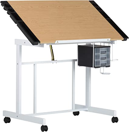White /& Maple Studio Designs Deluxe Arts and Crafts Drawing and Drafting Table