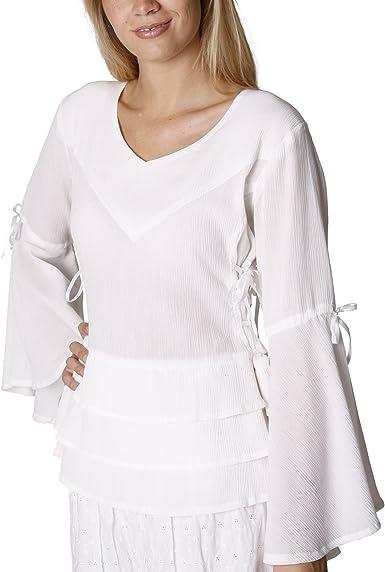 Blusa medieval Sophia - traje de mujer distinguido con ...