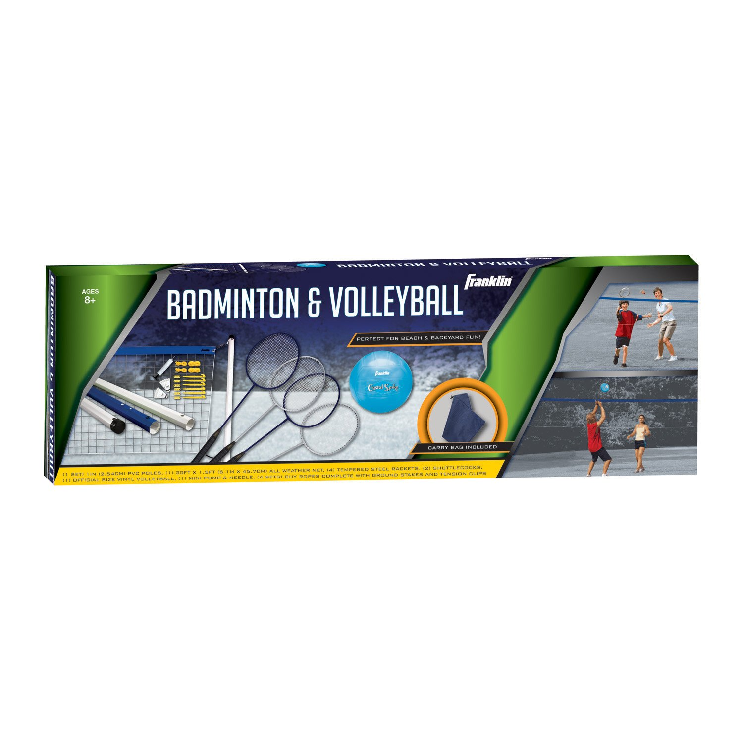 amazon com franklin sports recreational badminton and volleyball