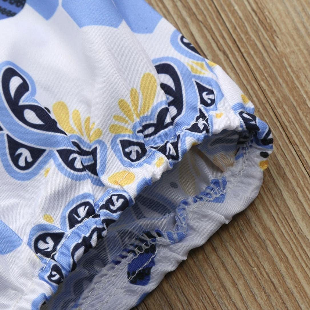 2Pcs Newborn Infant Baby Girls Onesies Bodysuits Cute Sweet Floral Print Sleeveless Romper+Headband Clothes Set