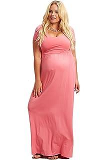 ddbe0903ba35 PinkBlush Maternity Royal Sash Tie Wrap Maxi Dress, Large at Amazon ...