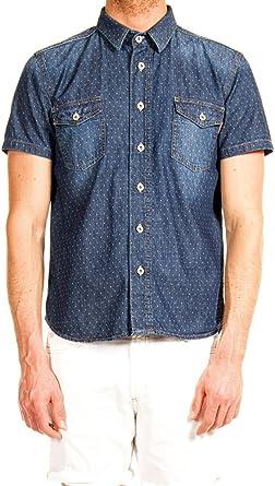 Carrera Jeans Denim LEGGERO Manica Corta, VESTIBILITA REGOLARE Camisa para Hombre: Amazon.es: Ropa y accesorios
