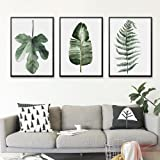 PLLP Nordic decorative painting, living room modern minimalist fresh paintings, pastoral green plants and flowers, multiple paintings, bedroom warm creative combination painting,H,5070