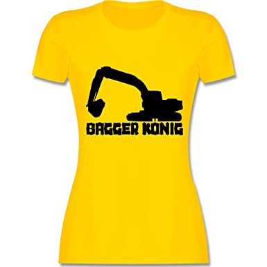 Andere Fahrzeuge - Bagger König - S - Gelb - L191 - Damen T-Shirt