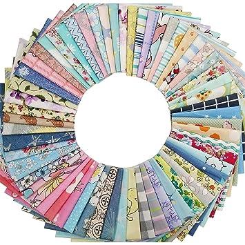 60Pcs Baumwollstoff Patchwork Stoffe DIY Gewebe Quadrate ...
