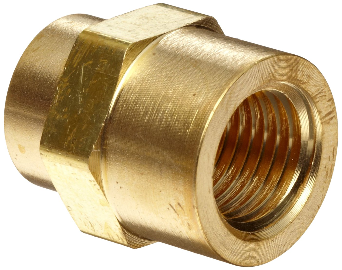 Parker Brass Pipe Fitting Hex Coupling 18 Npt Female X 18 Npt