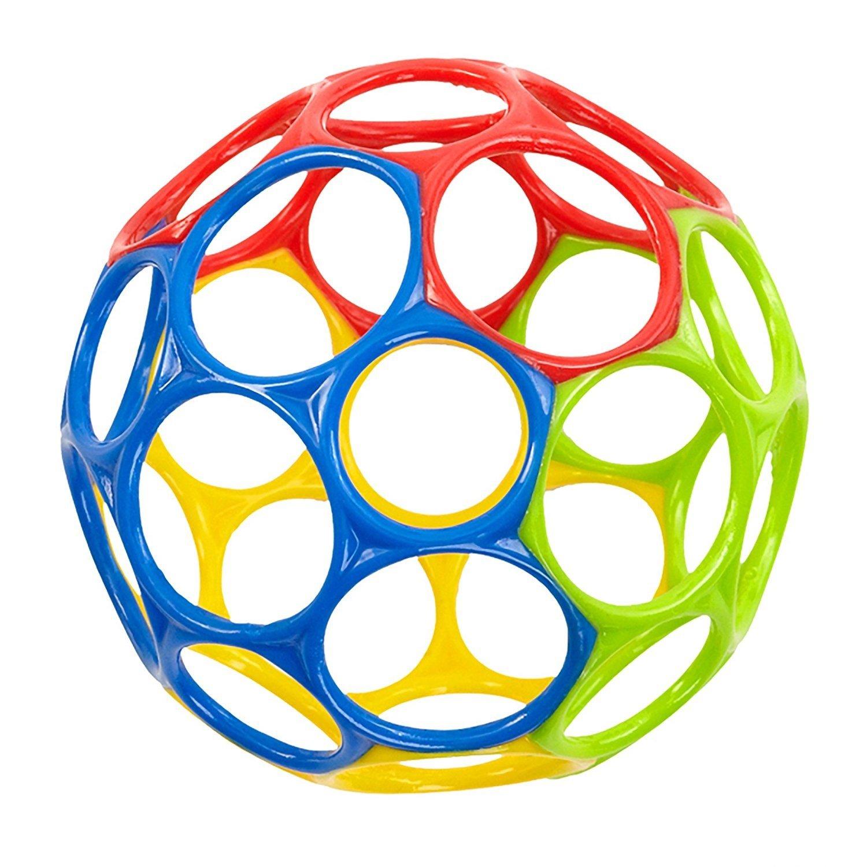 Keaner新生児幼児Roly - Polyおもちゃカラフルなハンドグリップ穴ベビーソフトガムボールアクティビティおもちゃ(カラフル)   B07FYDMRTL