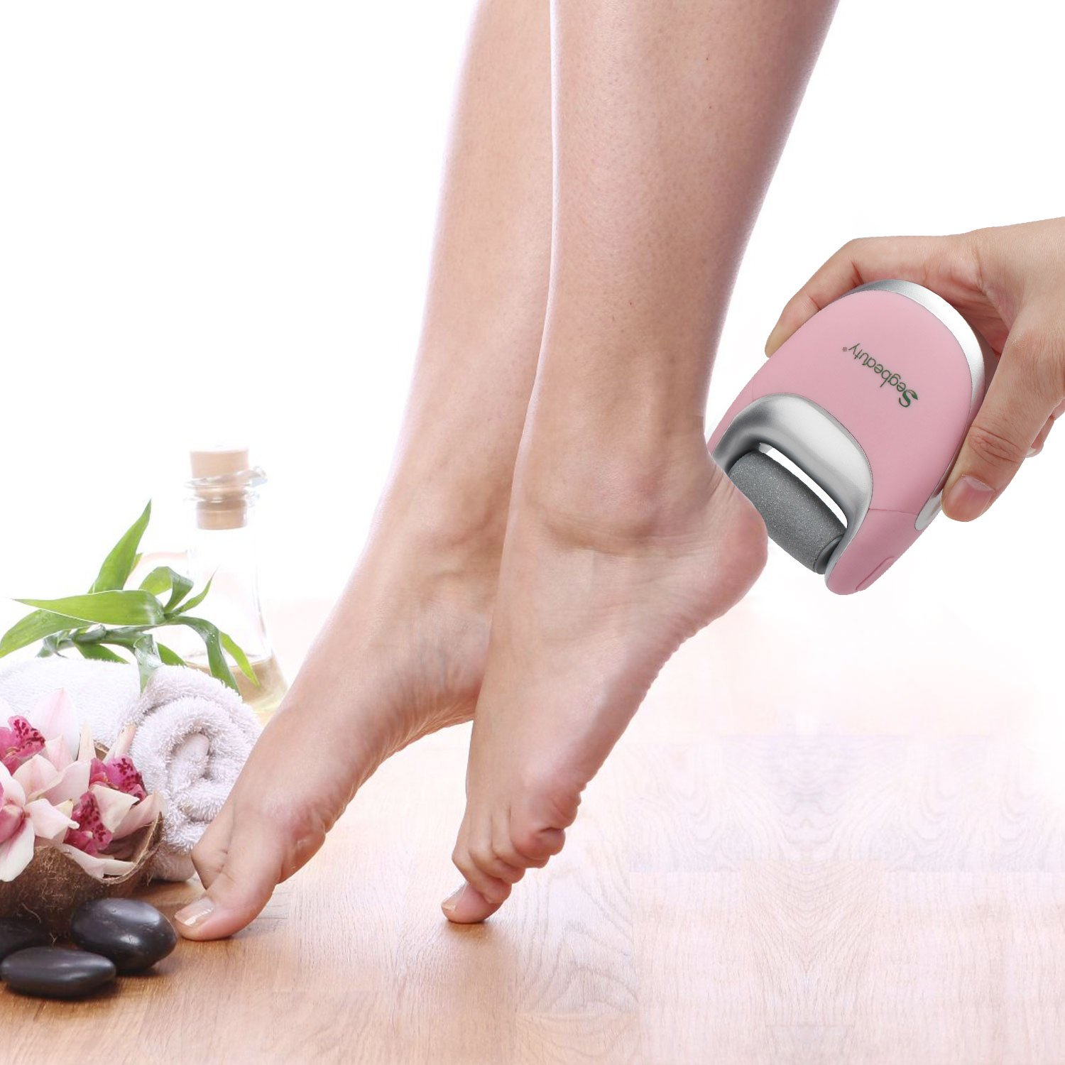 Segbeauty Elecric Callus Remover, Portable USB Rechargeable Pedicure Callus Instant Clear Remover, Travel Friendly, 2 Speeds Foot Care Callus Eliminator Foot File for Cracked Hard Dehisced Heels Skin by Segbeauty (Image #3)