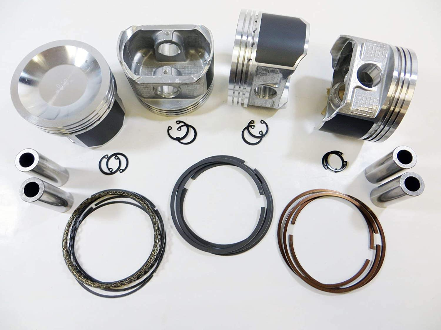 Upgraded Piston w//Premium Ring kit for 98-04 Nissan 2.4L Altima Frontier Xterra KA24DE 0.75mm .030