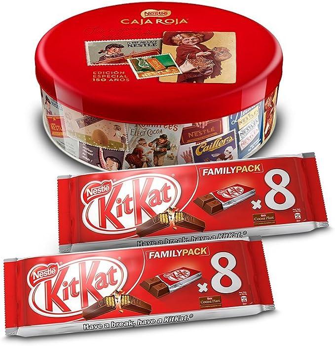 Nestlé Caja Roja (250 g) + Pack de 2 KitKat Galleta Recubierta (8 unidades x 20.8 g): Amazon.es: Alimentación y bebidas