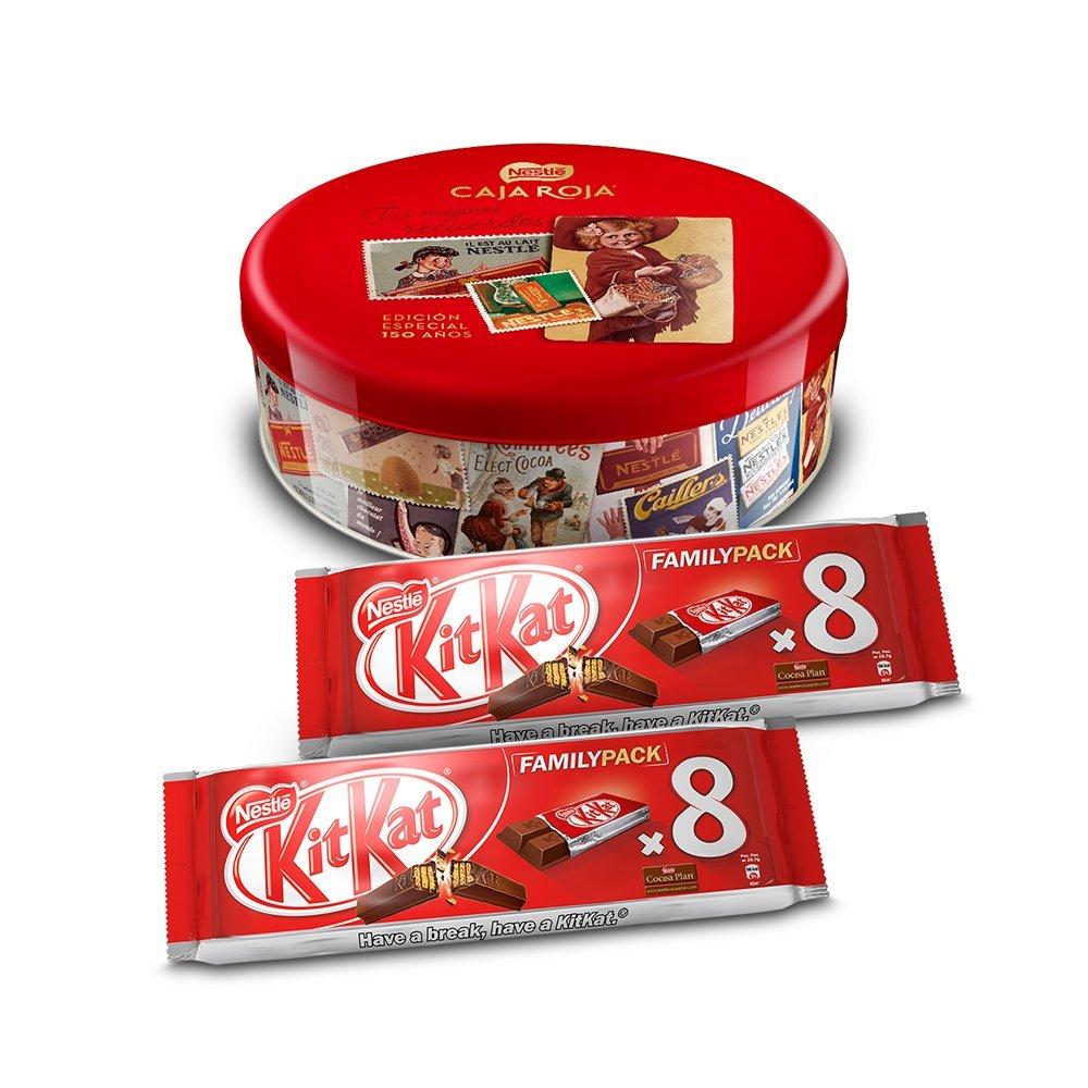 Nestlé Caja Roja (250 g) + Pack de 2 KitKat Galleta Recubierta (8 ...
