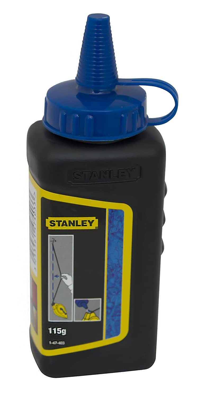 Stanley 1-47-403 Poudre à tracer Biberon de 115 g Bleu
