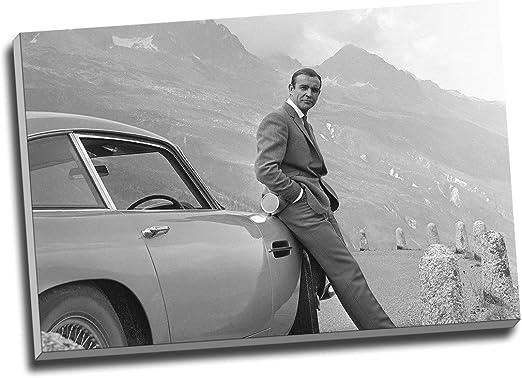 CANVAS Sean Connery as James Bond Art print POSTER