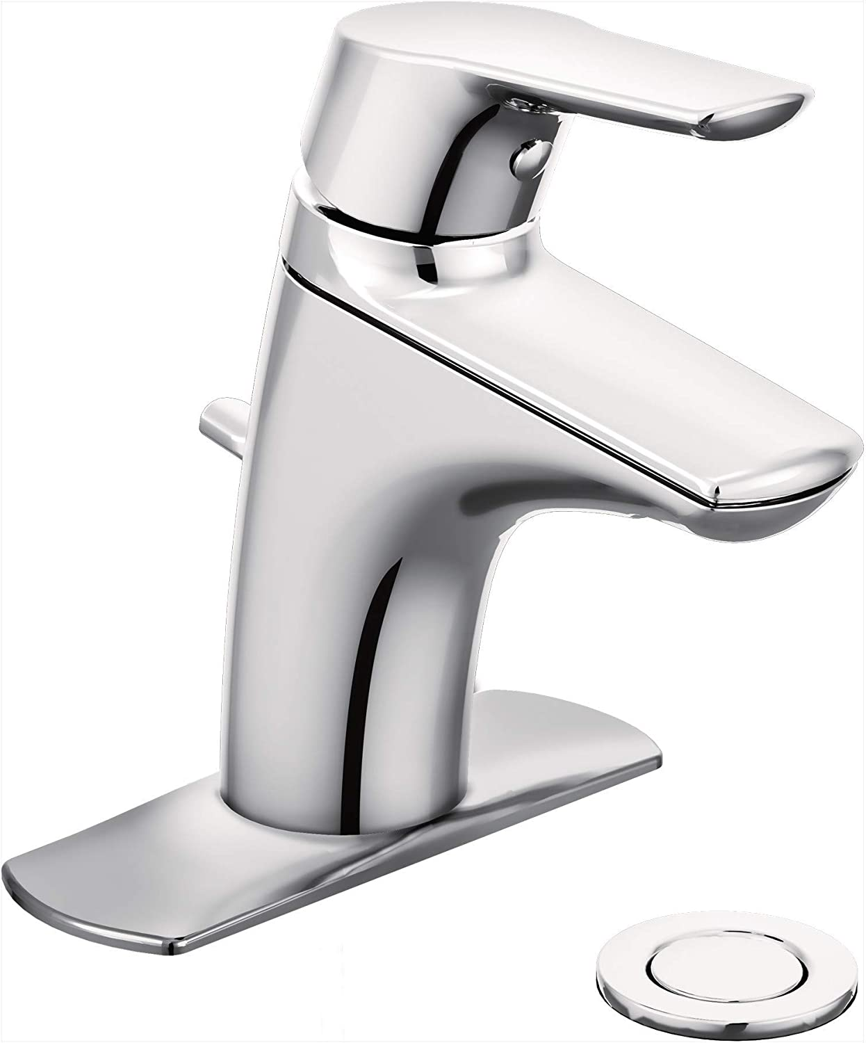 Moen 6810 Method One Handle Low Arc Bathroom Faucet 1 Count Chrome Touch On Bathroom Sink Faucets Amazon Com