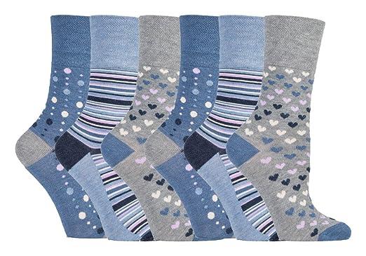 attraktive Mode kostengünstig Tiefstpreis Gentle Grip - 6er pack damen ohne gummi bunt muster ...