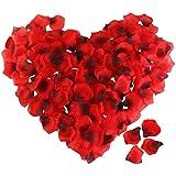 ETEREAUTY Rosenblätter, 3000 Stück Rosenblüten für Romantische Atmosphäre und Hochzeit Party Dekoration