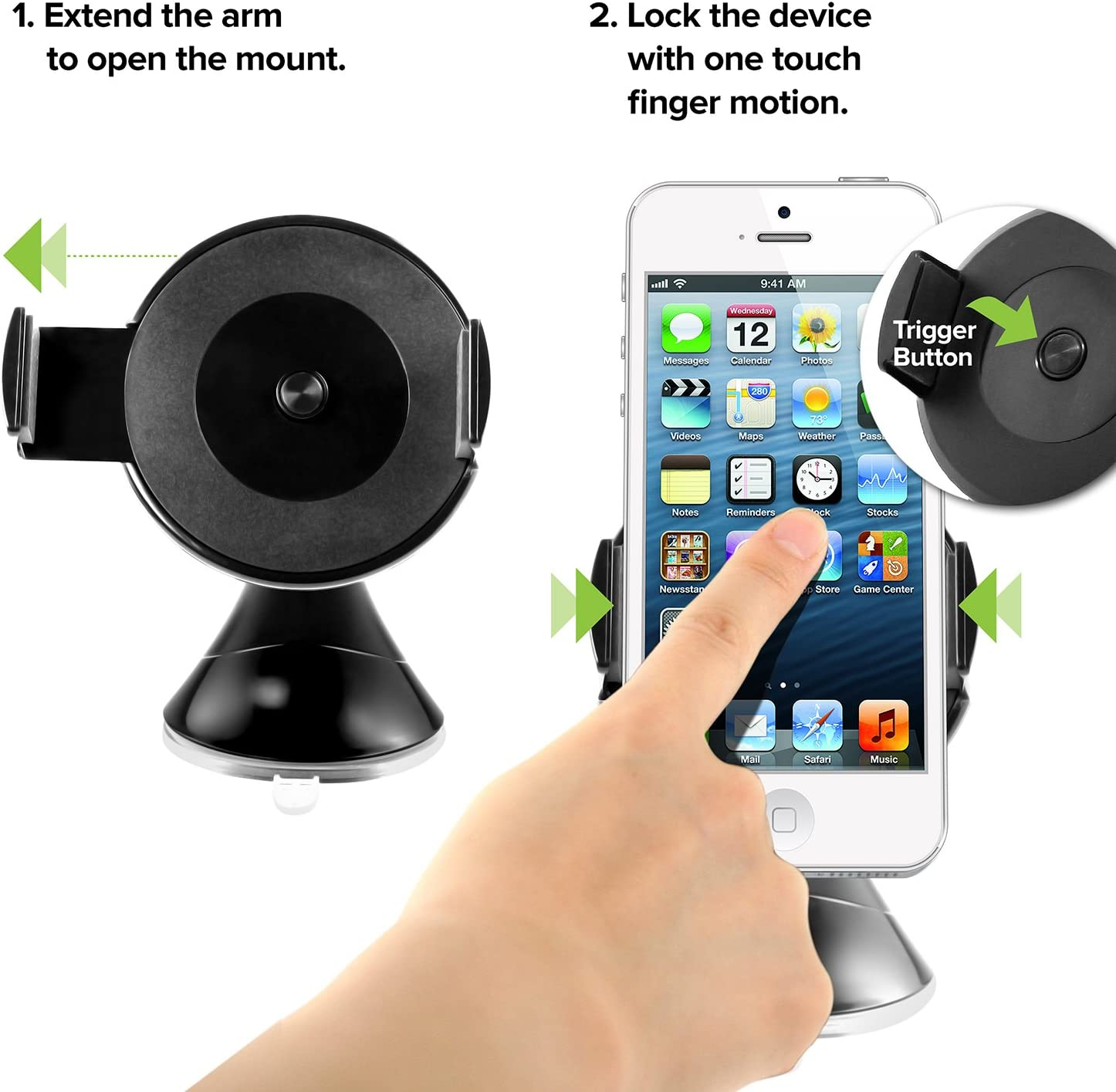 Retail Packaging Black iOttie Easy View Car Mount for iPhone 5//5S