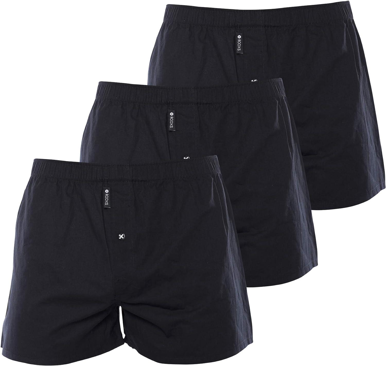 weiß 3er Pack Männer Unterhosen mehrfarbig Rooxs Boxershorts Herren