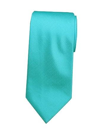 Extra Long Microfibre Necktie Blue Florals Woven Jacquard Polyester XL Mens Tie