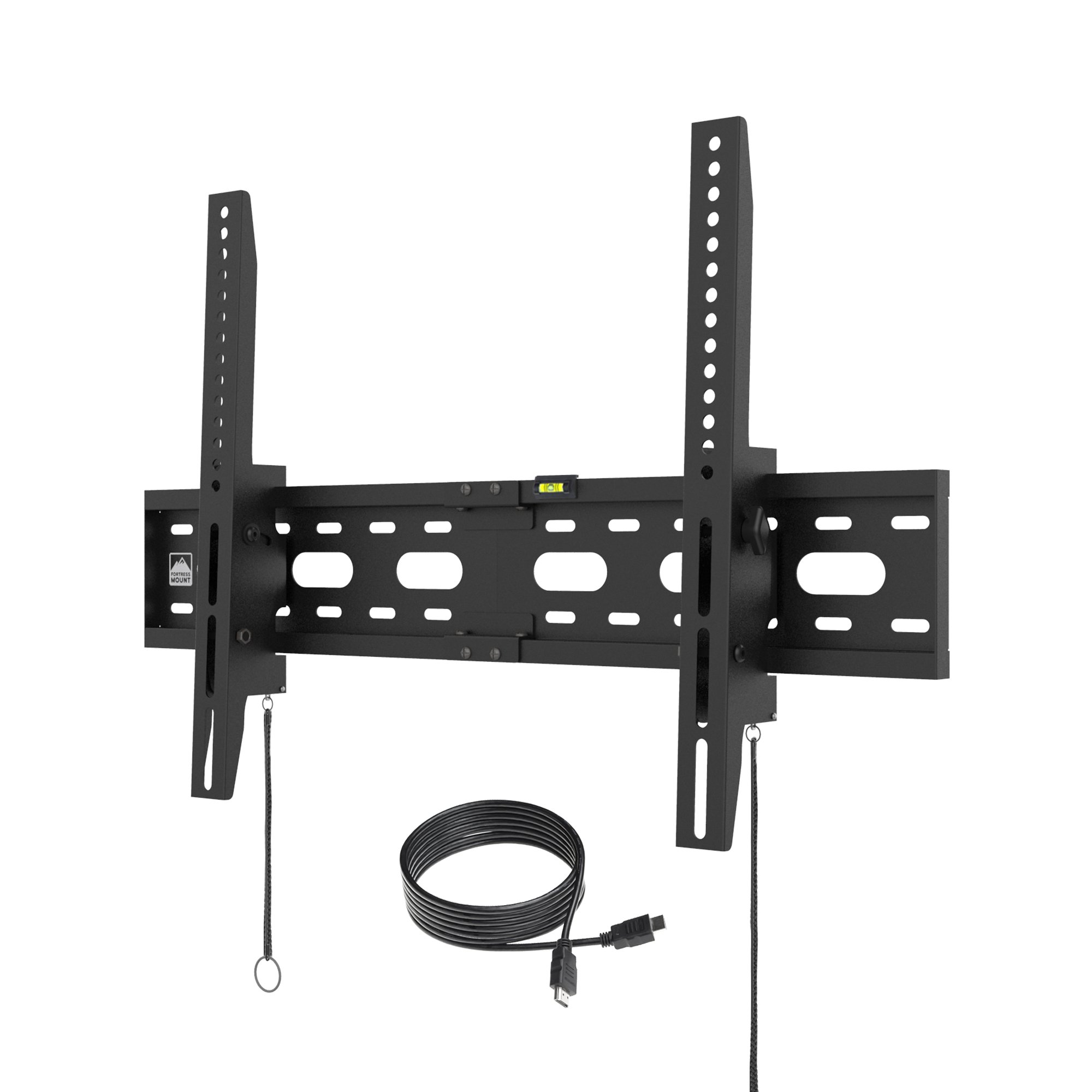 【2018】Fortress Mount TV Wall Mount for 40-75'' TVs up to 165 lbs with 9-feet Braided HDMI Cable