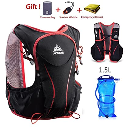 aabaab2804 AONIJE Trail Running Backpack Vest Hydration Packs for Men and Women  Ultralight Professional 5L Outdoor Backpack