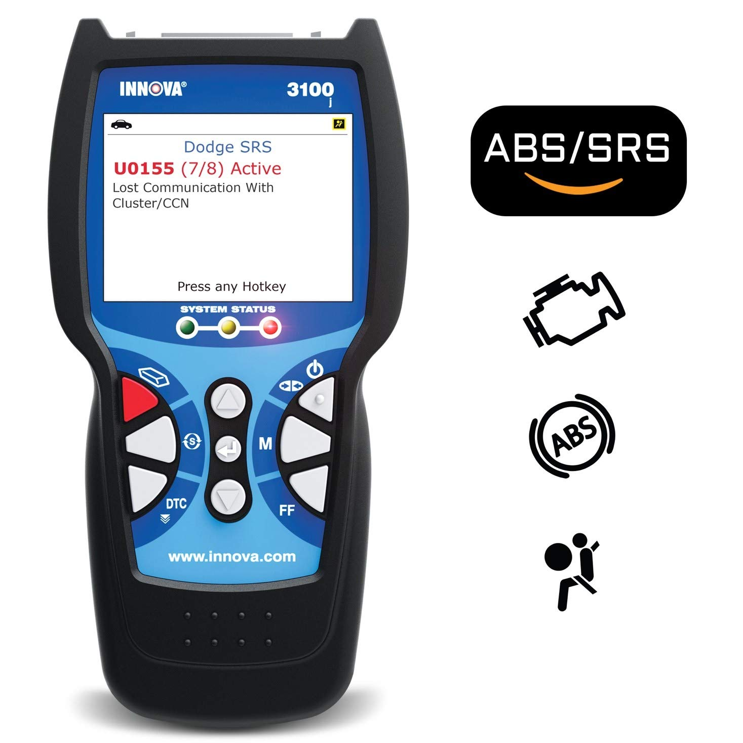 4. Innova 3100j Check Engine Code Reader Scan Tool with ABS, SRS, EVAP, and Freeze Frame