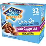 Blue Diamond Almonds Low Sodium Lightly Salted Snack Nuts, 100 Calorie Packs, 32 Count
