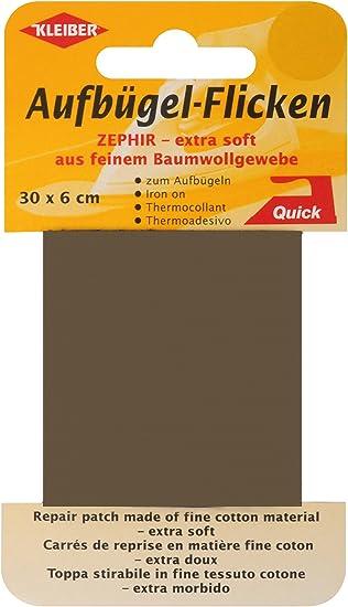 Cream Kleiber 30 x 6 cm Extra Soft Fine Cotton Iron-On Repair Tape