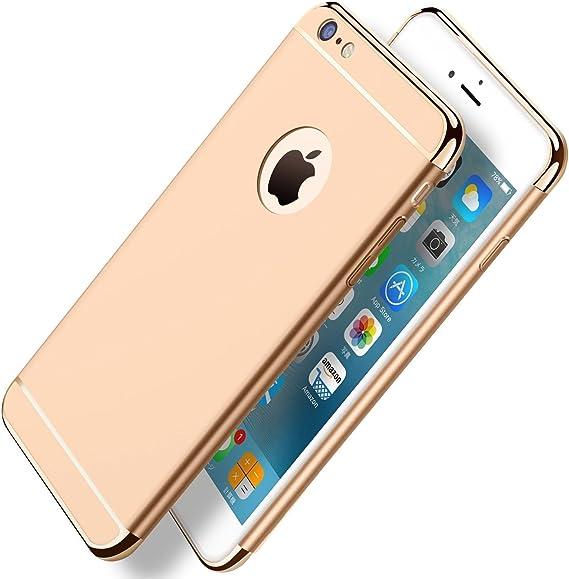 3 in 1 parachoques Ultra-delgado Funda Case Cover Protector PC Carcasa iPhone 6s Plus para el iPhone6//6s Qissy Funda iPhone 6 Plus