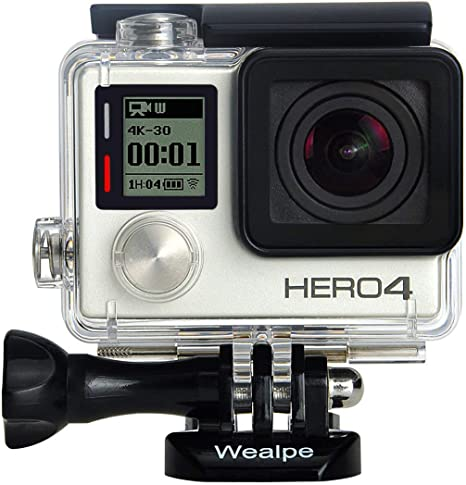 4 Underwater Standard Housing Case Lens Replacement for GoPro Hero 3