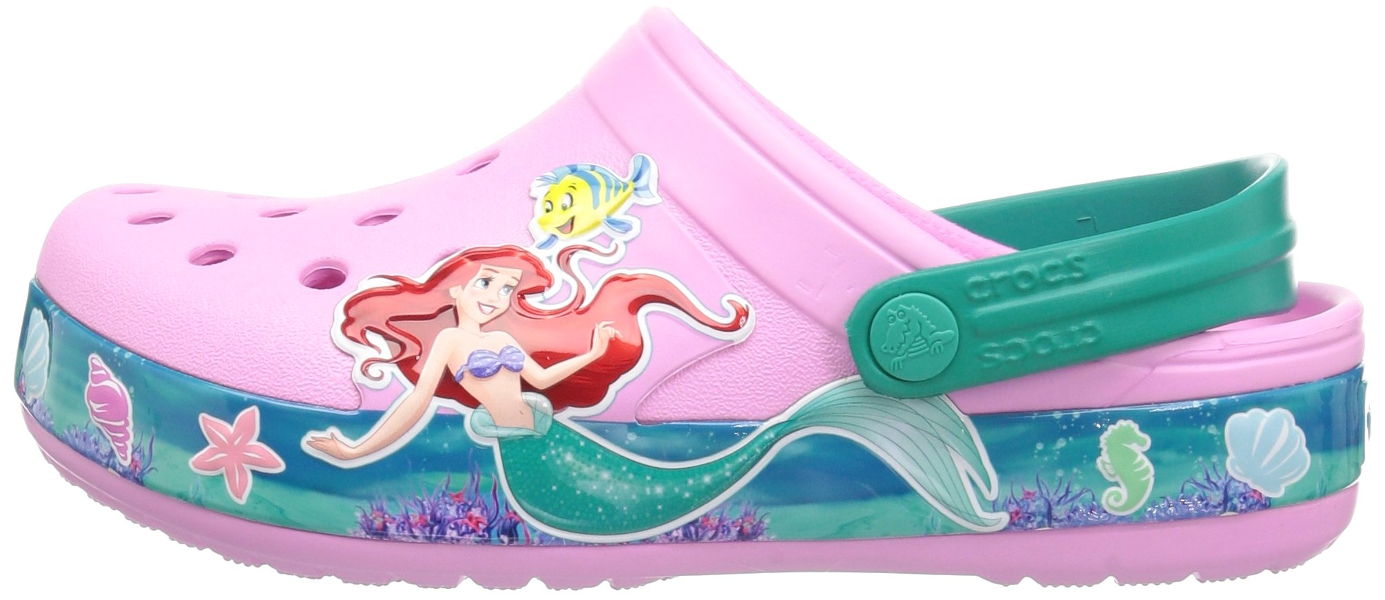 Crocs Unisex-Kids  CB Princess Ariel Clog K , carnation , C10 M US Toddler by Crocs (Image #5)