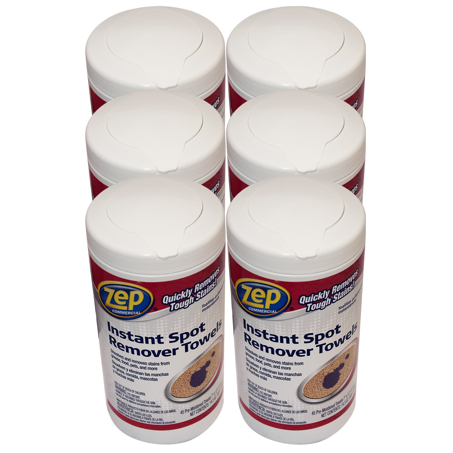 Amazon.com: Zep Instant Spot Remover Towels 45-ct (case of 6): Kitchen & Dining