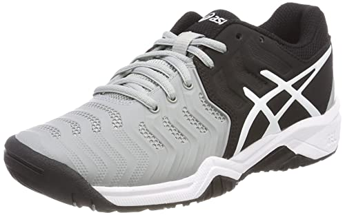 Asics Gel-Resolution 7 GS, Zapatillas de Tenis para Niños, (Mid Greyblackwhite), 33.5 EU: Amazon.es: Zapatos y complementos