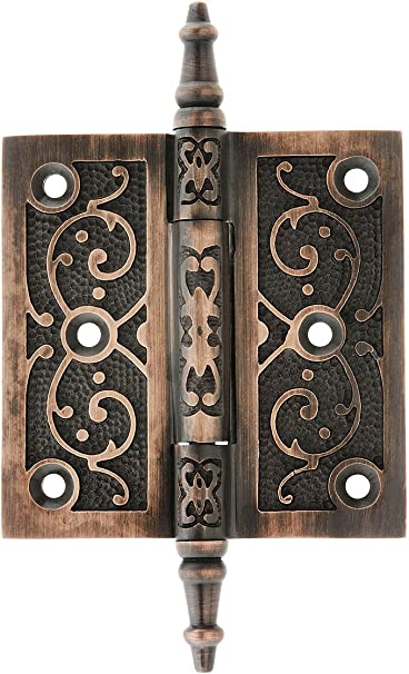 "Vintage Solid Brass Door 3/"" Hinge Heavy Duty Decorative Antique Gate Hardware"